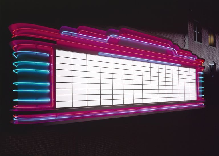 Blank neon marquee