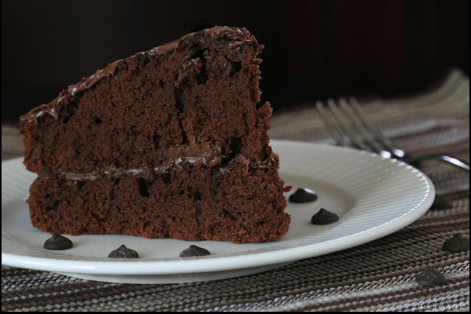 Chocolate double layer cake