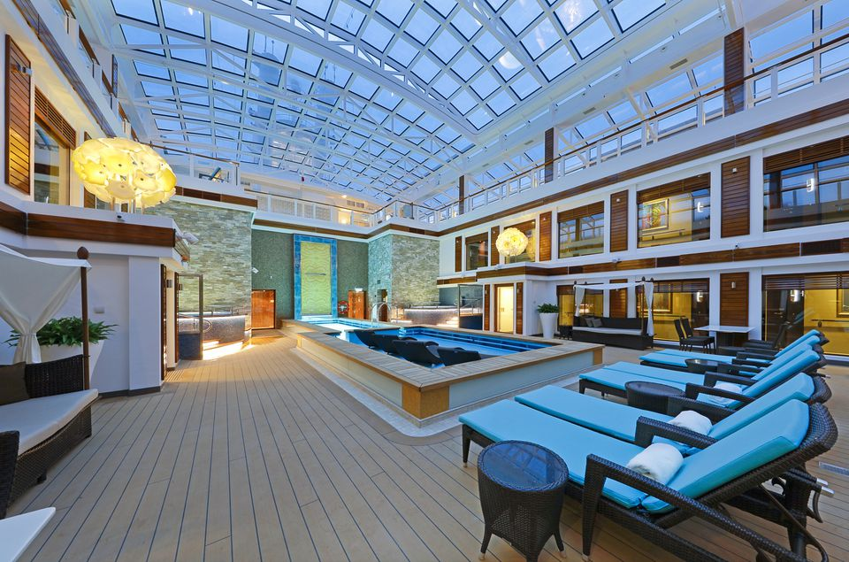 The Haven Courtyard on the Norwegian Escape cruise ship