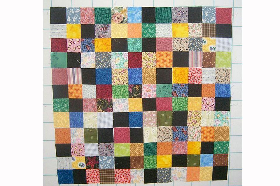 16-Patch Scrap Quilt Pattern