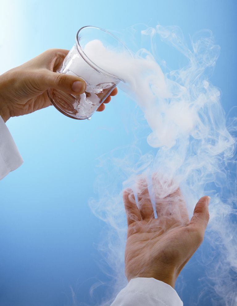 Making dry ice fog is a classic Halloween chemistry demonstration.
