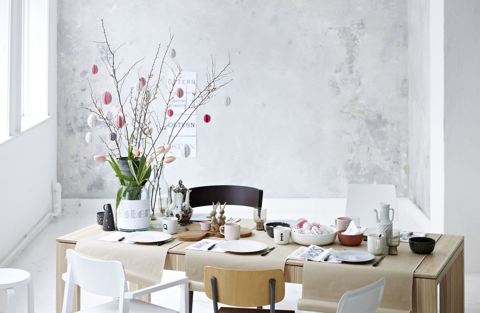 Easter table menu