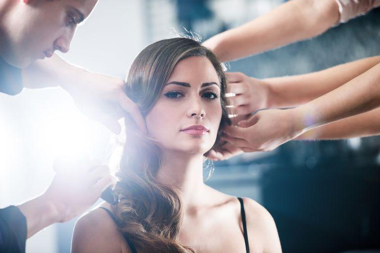 Teamwork at the hair salon. Tip the team.