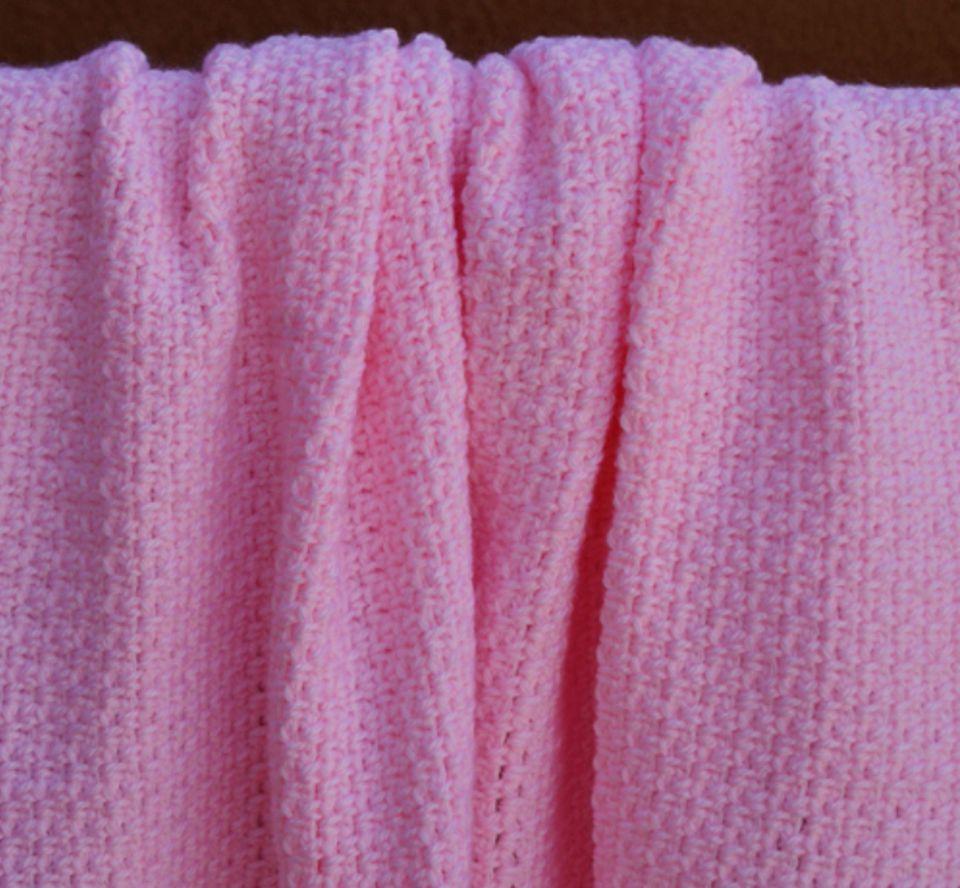 Pink Crochet Baby Blanket Free Pattern
