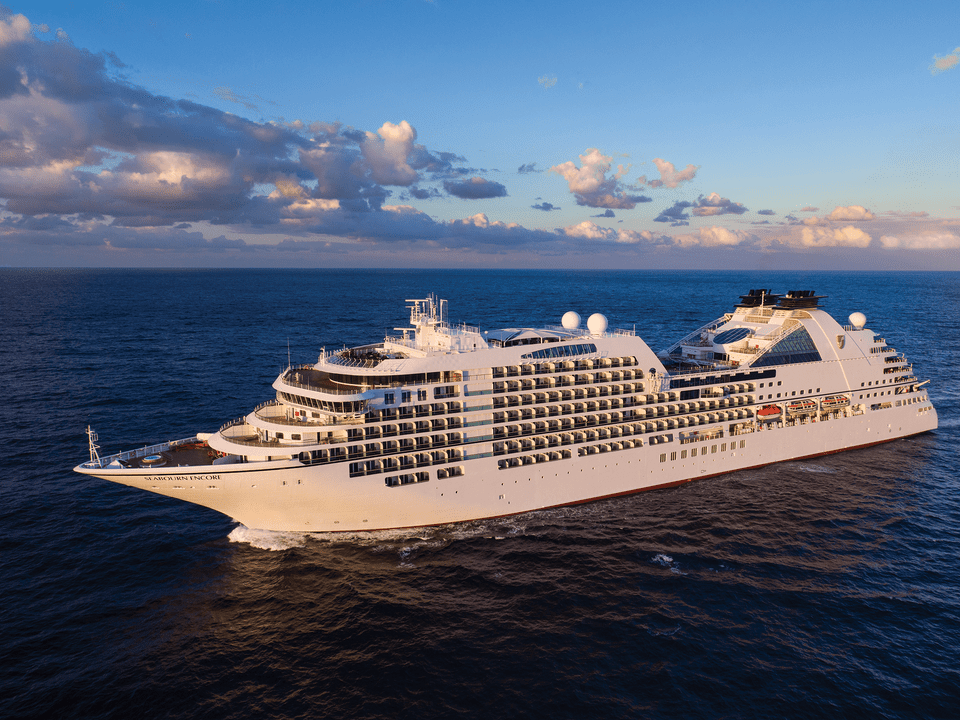 The exterior of the Seabourn Encore