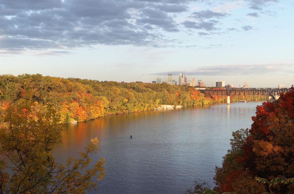 Minneapolis Skyline in Autumn