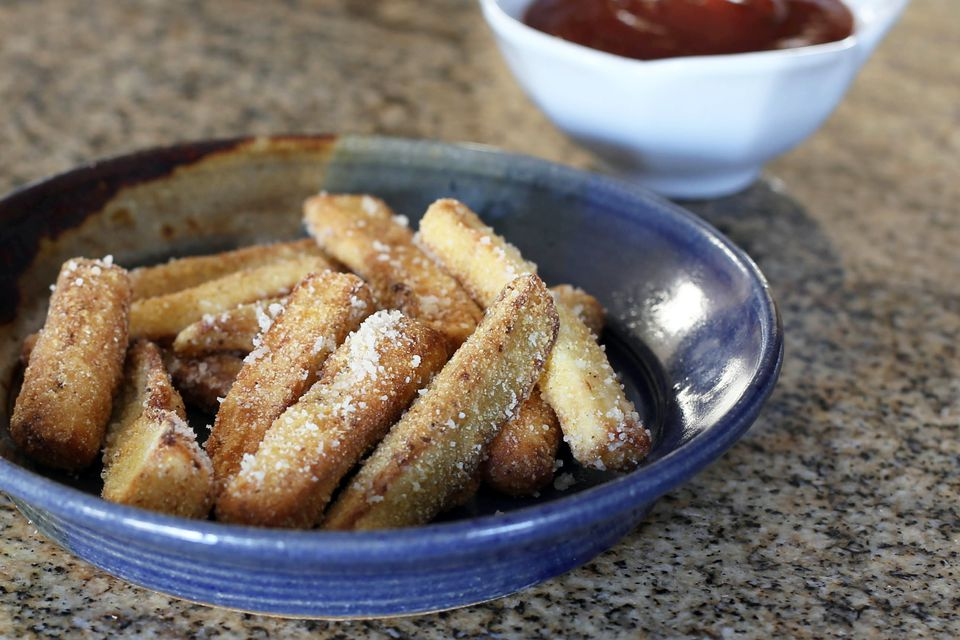 Fried Eggplant Strips