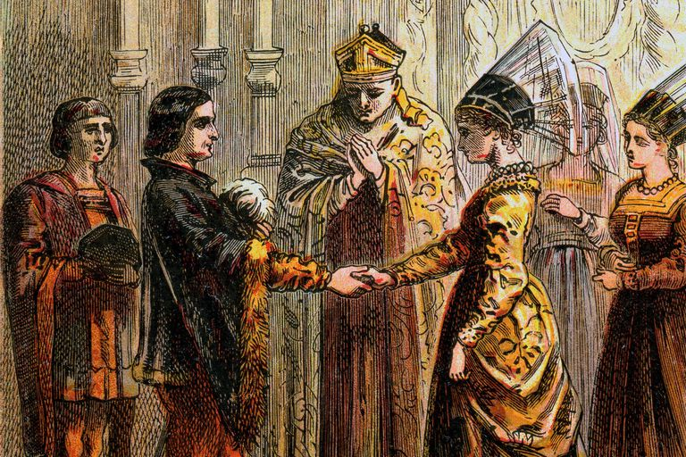 Marriage Of Henry V (1470, image c1850)