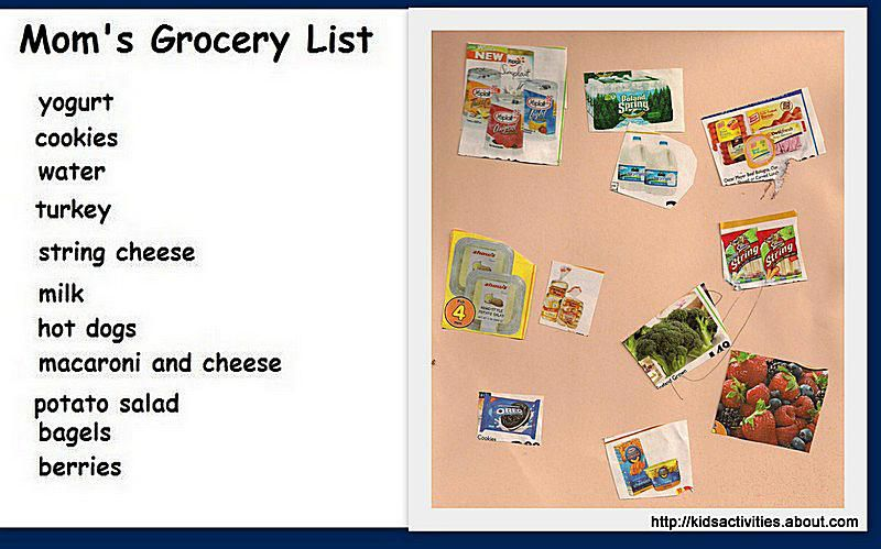 Grocery Shopping learning game