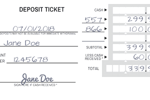 How to fill out a deposit slip for Checking deposit slip template