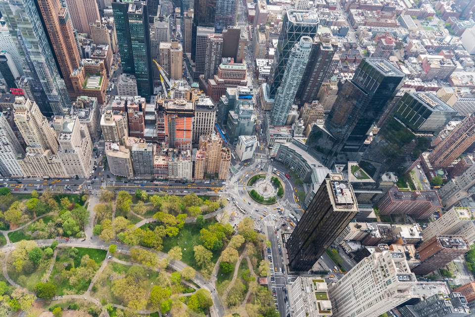 Columbus Circle NYC from above