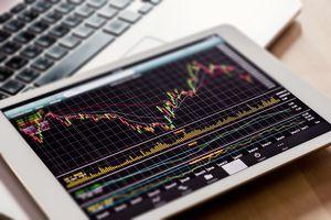 Stock market graph on iPad