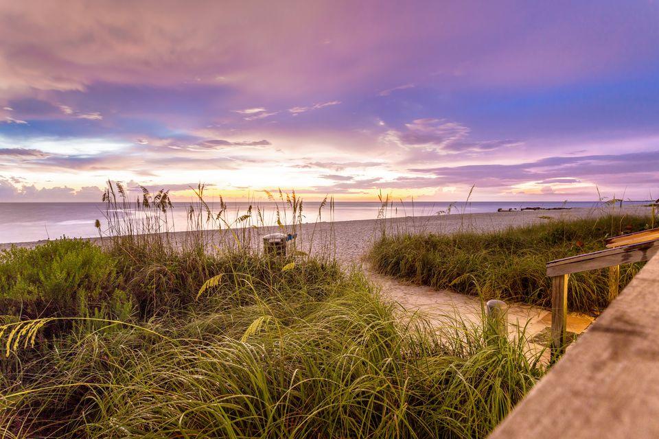 Naples beach shore and calm ocean, Florida