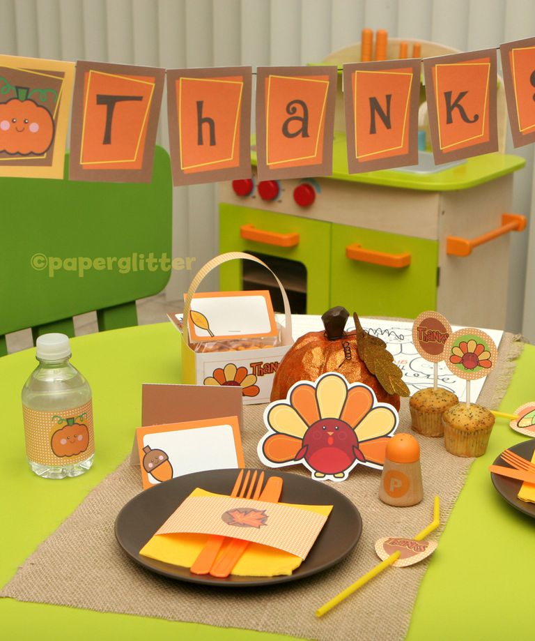 Thanksgiving Table Decorations free, printable thanksgiving table decorations