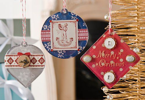 Amy's Decoupage Christmas Ornaments