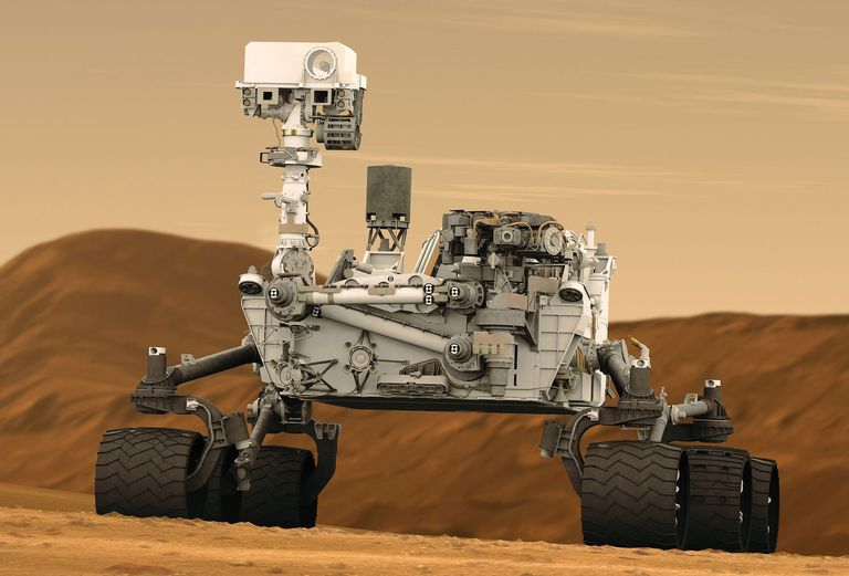 Depiction of Mars Curiosity Rover