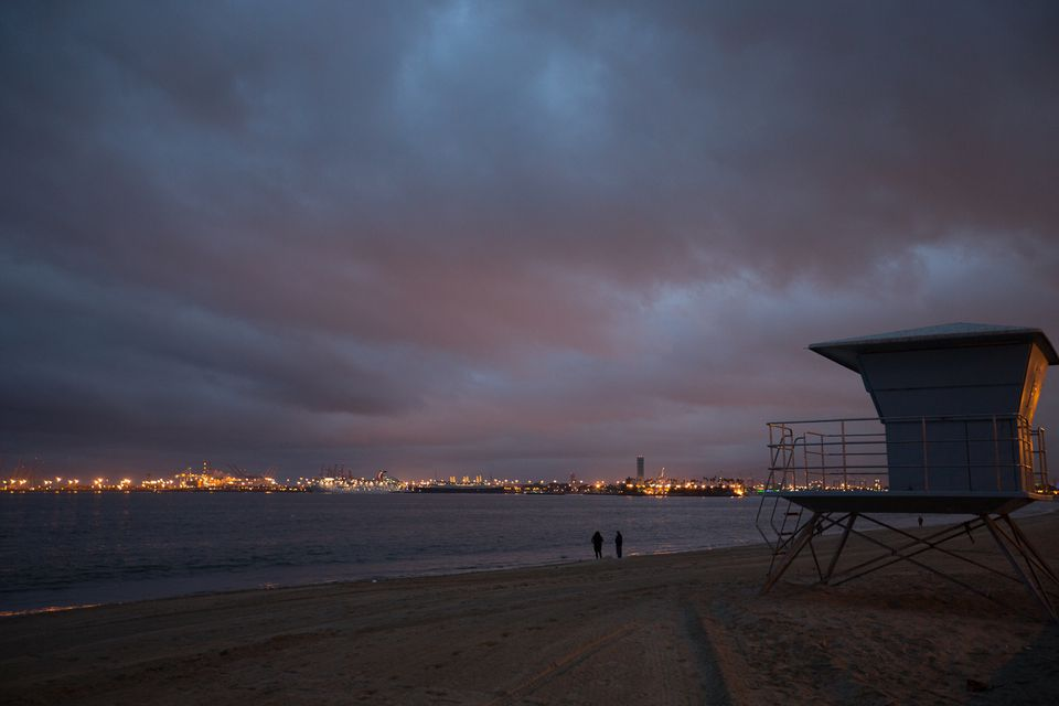 Clouds at Twilight over Long Beach, CA