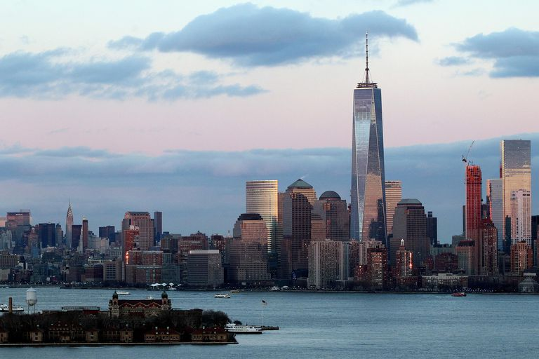 December 2014, One World Trade Center at Sunset