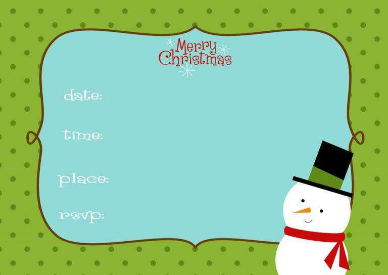15 Free Christmas Party Invitations That You Can Print – Invitations to Christmas Party