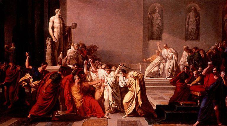 Vincenzo Camuccini, Death of Caesar, 1798