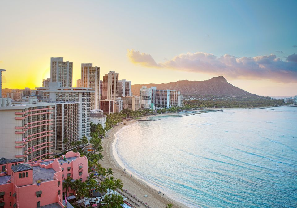 Waikiki beach at sunrise