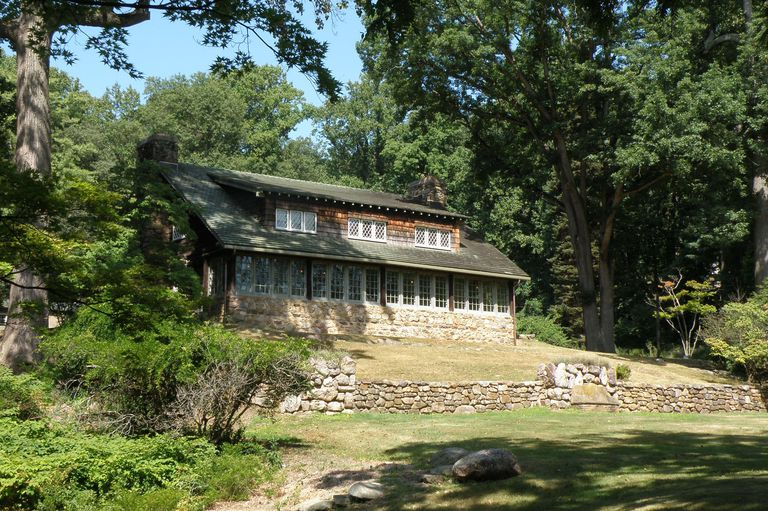 Craftsman Farms Log House, Home of Gustav Stickley 1908-1917, in Morris Plains, New Jersey