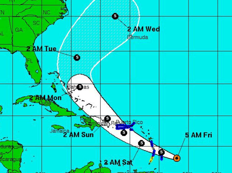 Hurricane Risk In USVI St Croix St Thomas St John - Weather map us virgin islands