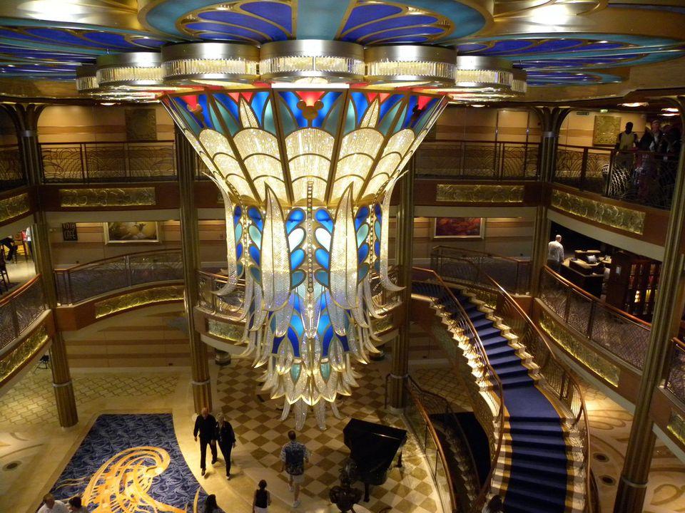Disney Dream Atrium Lobby Chandelier