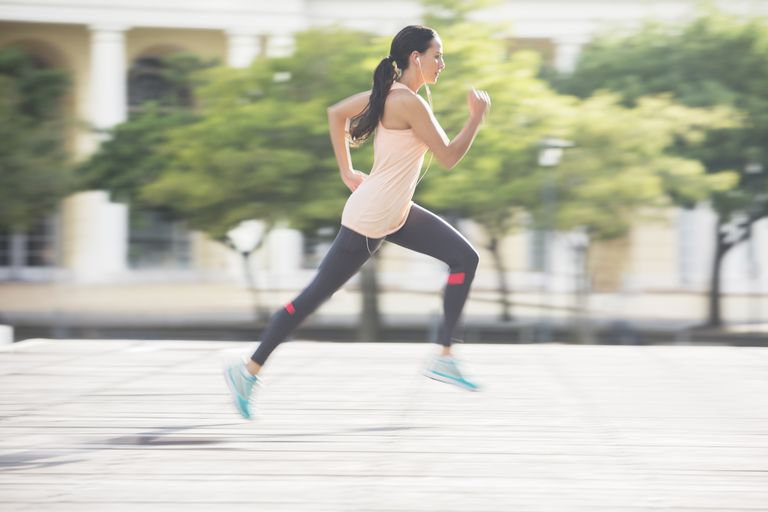 Photo of a woman running.