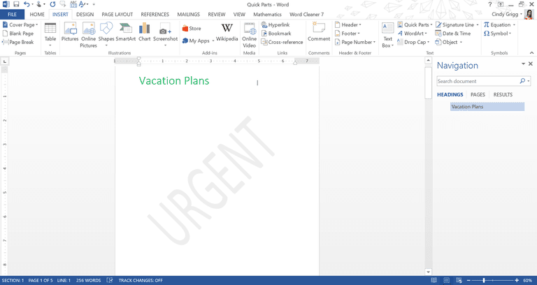 how to put draft watermark on word document