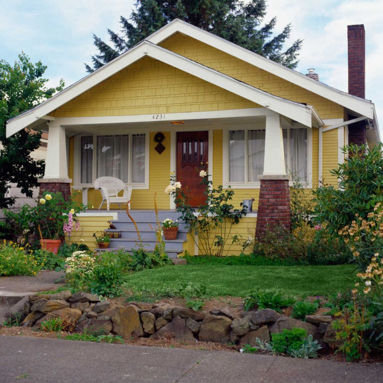 An American Bungalow With Double Front Gables
