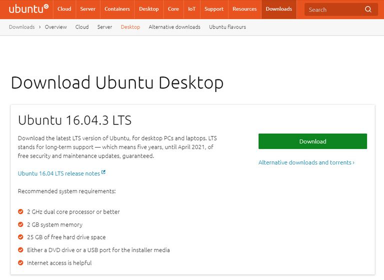 Download Ubuntu Desktop to begin creating a Ubuntu USB drive.