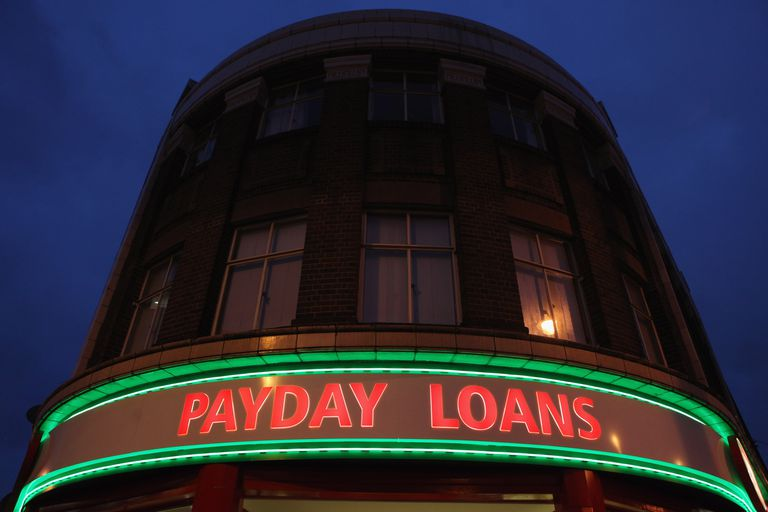 Neon sign advertising Payday Loans
