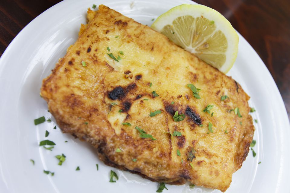 Saganaki Greek food