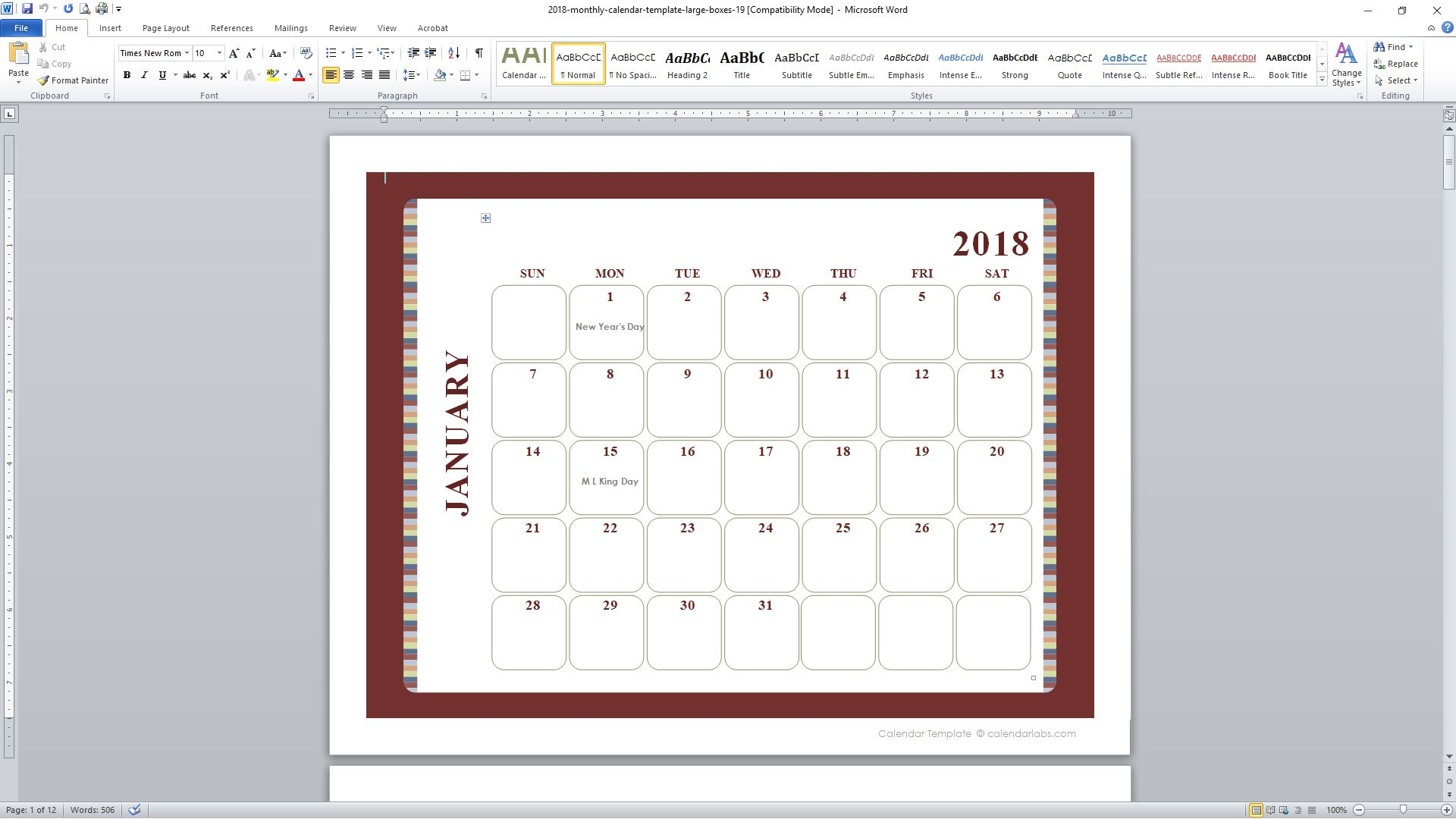 89 free calendar templates for 2018 and beyond saigontimesfo