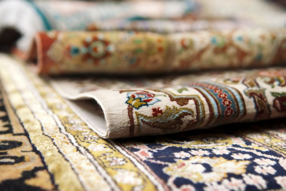 colorful rugs upclose