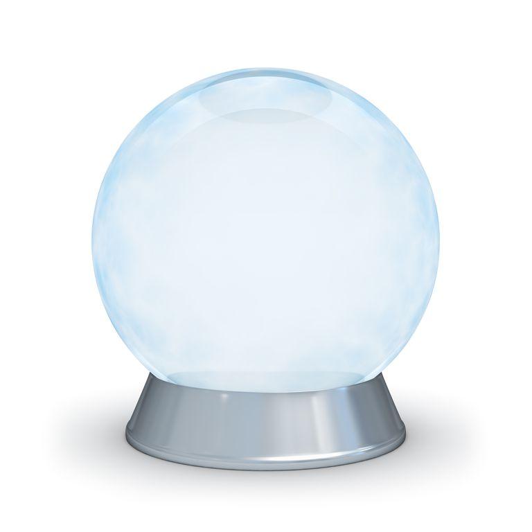 A dry ice bubble looks like a foggy crystal ball.