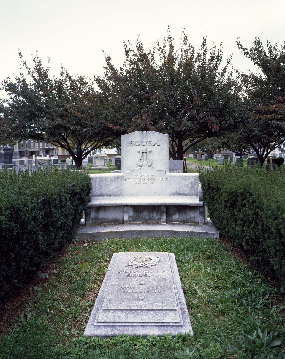 John Philip Sousa gravesite at Congressional Cemetery, Washington, D.C.