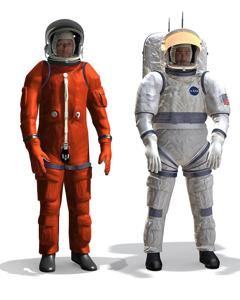 The evolution of the space suit from 1961 to today for Space suit design