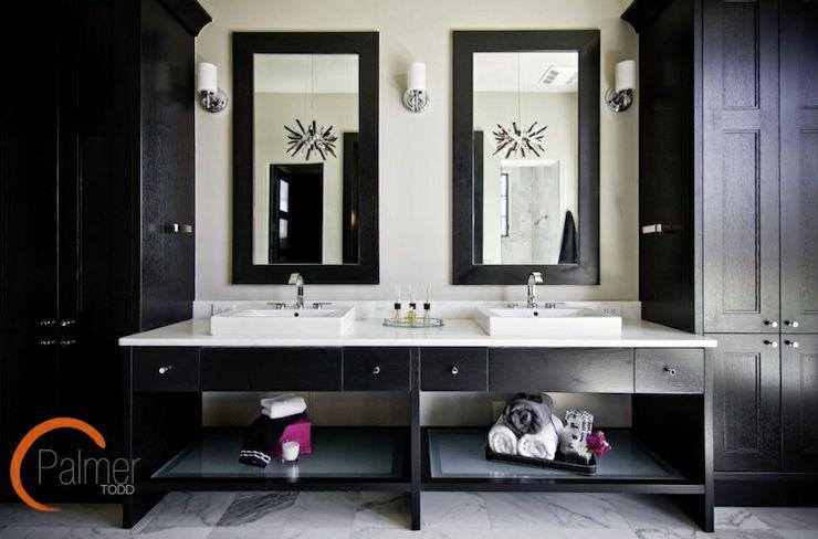 Interior Black Bathrooms 17 beautiful black bathrooms master bathroom with double vanity and cabinets