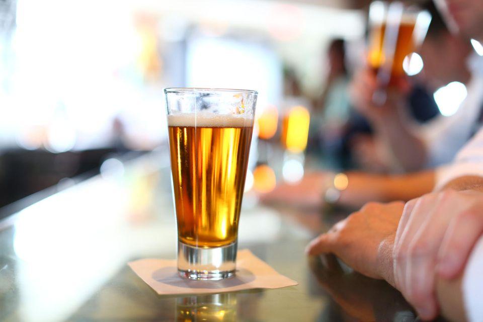 Glass of Beer At Bar