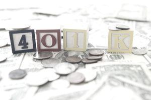 blocks spelling 401k sitting on money