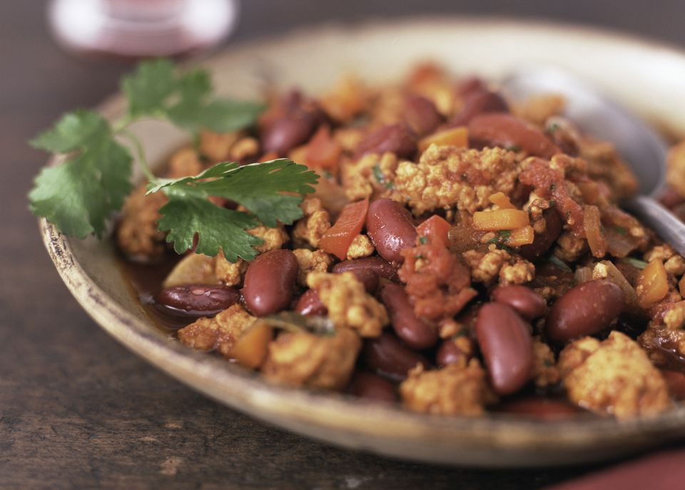 Tempeh chili - vegetarian and vegan