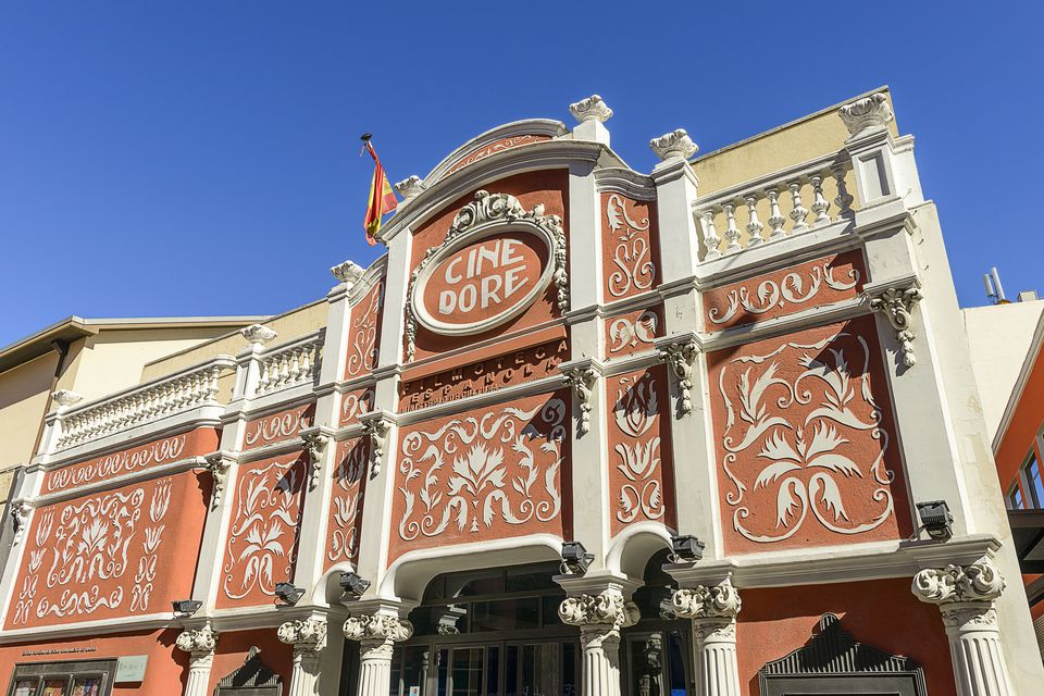 Cine Dore is Madrid's oldest cinema and houses the Spanish Film Library exhibit room, Madrid, Spain
