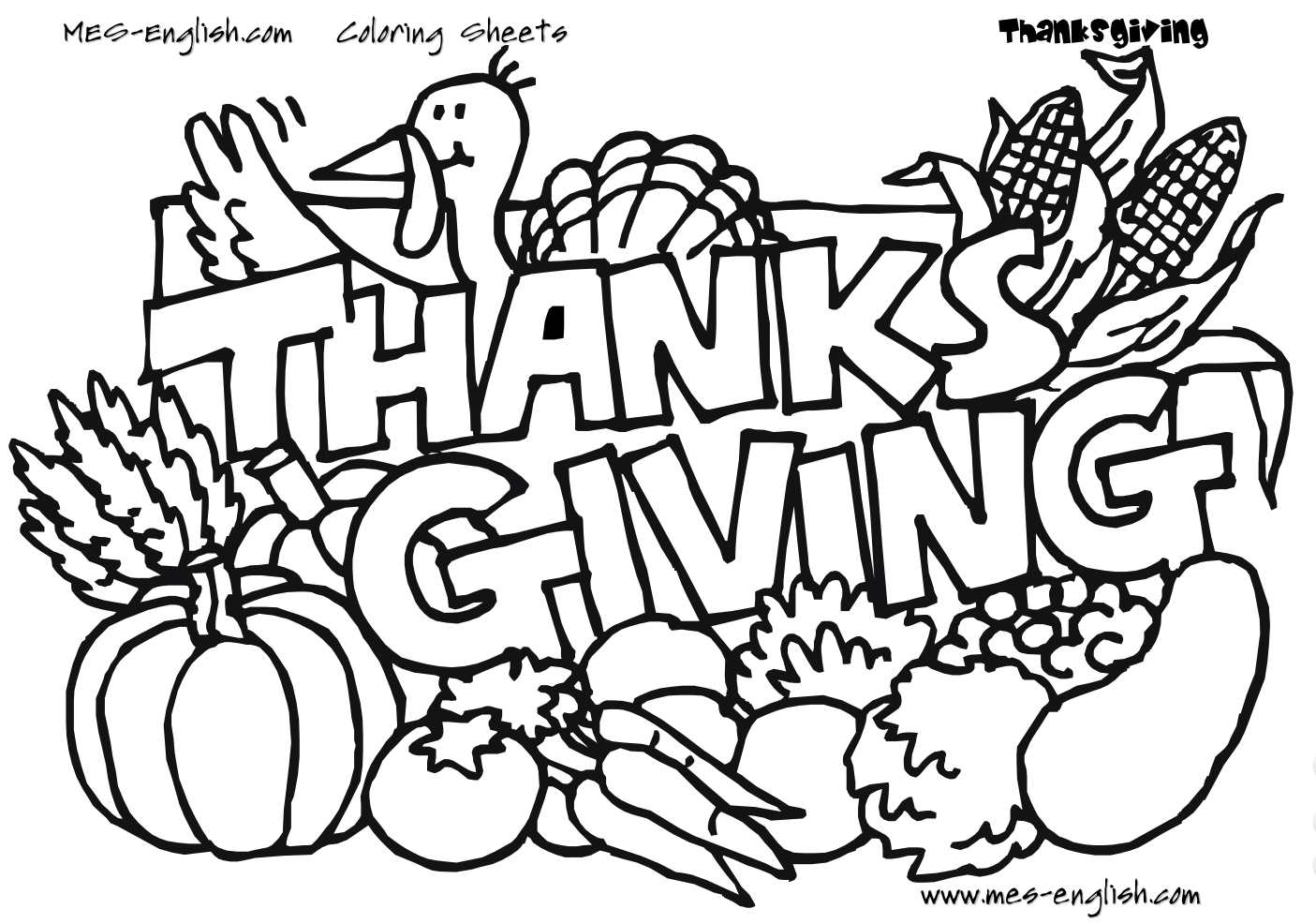 217 thanksgiving coloring pages for kids - Thanksgiving Coloring Books
