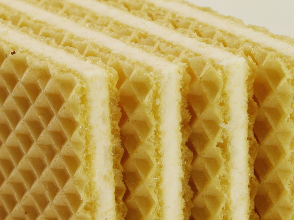 Close-up of wafers