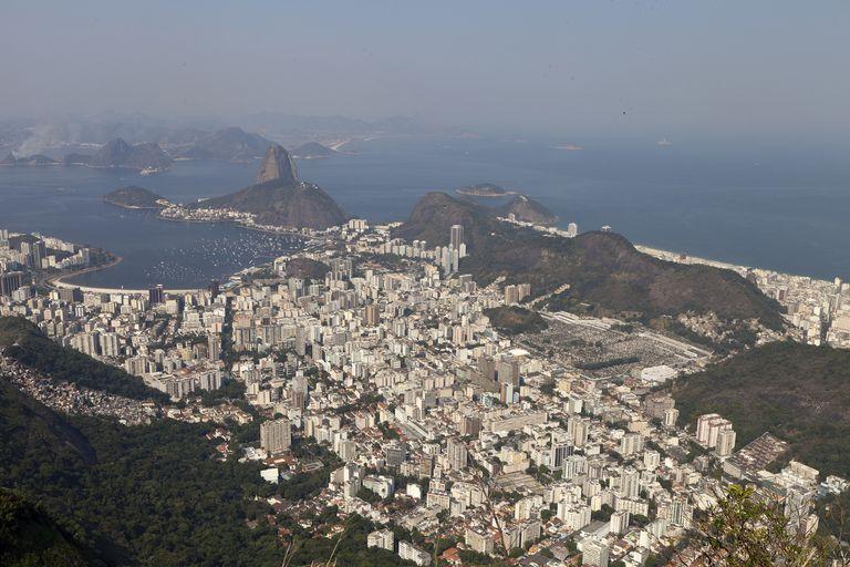 View of Rio de Janeiro from Corcovado Brazil
