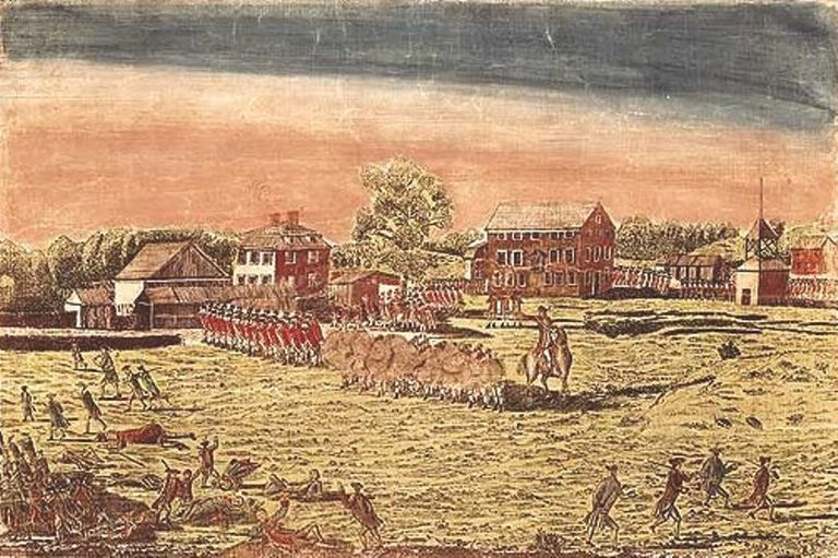 Fighting at Lexington, 1775