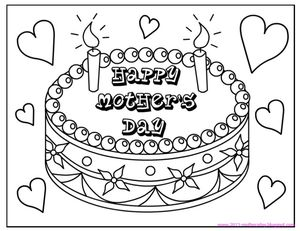 coloringtops free mothers day coloring pages - Free Mothers Day Coloring Pages