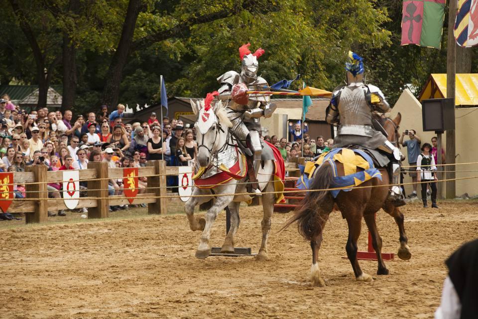 Jousting at a Renaissance Festival